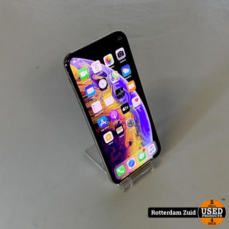 iPhone XS 64GB zilver II in nette staat II met garantie II