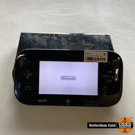 Nintendo Wii U Zwart Compleet || Met Garantie || In Nette Staat ||