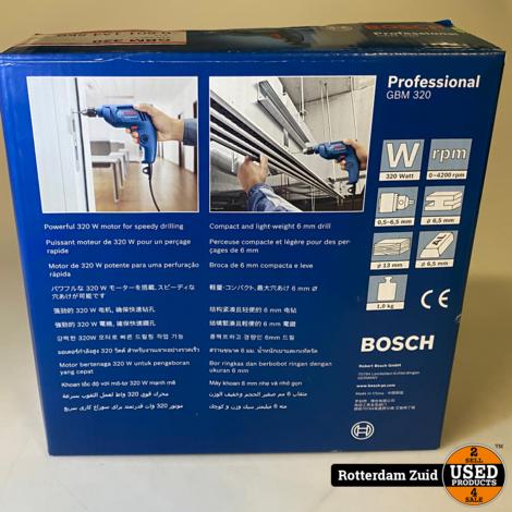 Bosch GBM 320 Boormachine || Nieuw in doos || met garantie