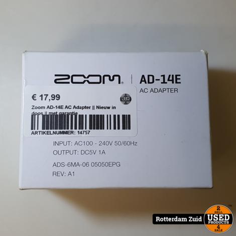 Zoom AD-14E AC Adapter || Nieuw in doos || met garantie