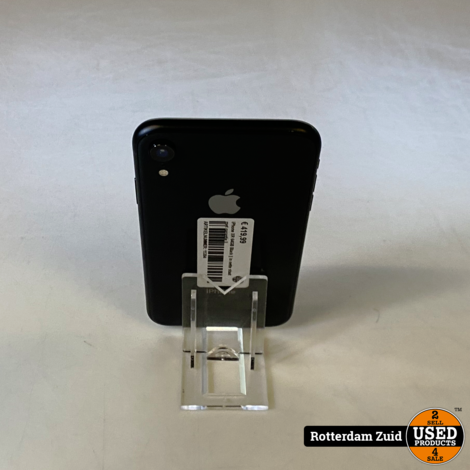 iPhone XR 64GB Black    in nette staat met garantie   