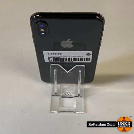 iPhone X 64GB Black   Nette staat    met garantie