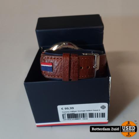 Tommy hilfiger horloge ledere band II met garantie