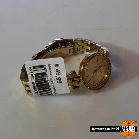 Michael kors horloge 111711 Goud II Gebruikt II met garantie II