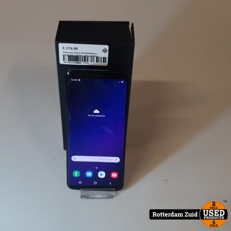 Samsung Galaxy S9 64GB Black || ingebrand scherm || met garantie ||