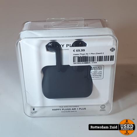 Happy Plugs Air 1 Plus (Zwart) || Nieuw in doos ||