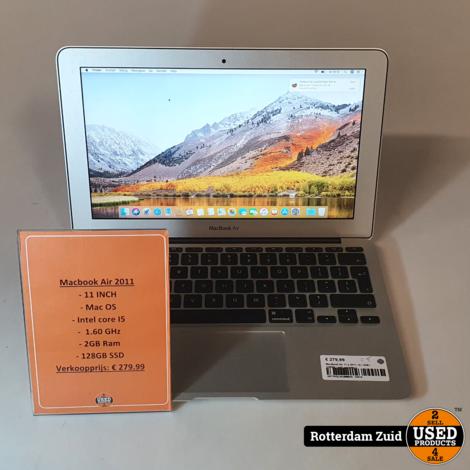 MacBook Air 11 || 2011 | i5 | 2GB | 128GB | met garantie ||
