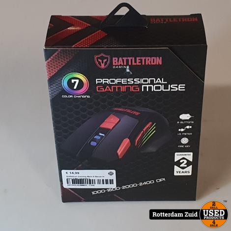 Battletron Gaming Muis II Nieuw in doos II Met garantie II