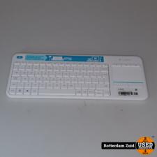 Logitech K400 Plus - Draadloos Touch Toetsenbord wit II Nieuw Zonder doos II Met garantie II