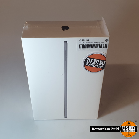 iPad Mini 2019 256GB 4G Space Gray || Nieuw in seal || met garantie ||