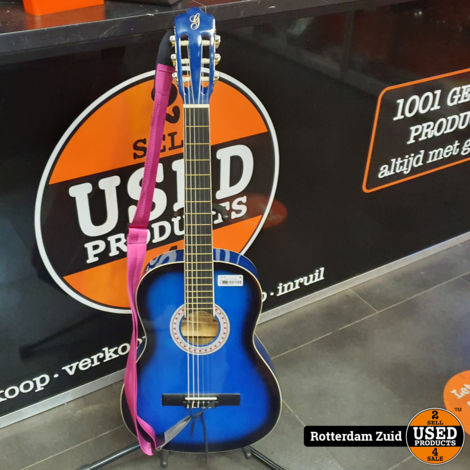 Gomez akoestische gitaar blauw    met garantie   