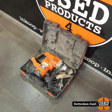 Black & Decker KD1250 hamerboor II Met koffer en Garantie II Nette staat II