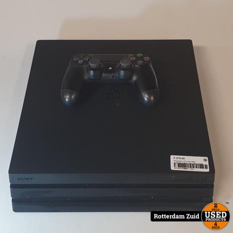 Playstation 4 Pro Zwart Met 1 Controller II Nette staat II Met garantie II
