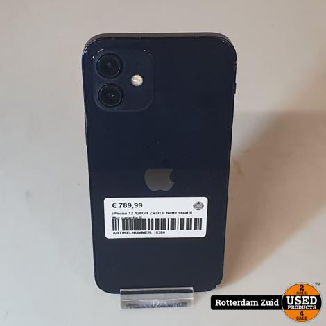 iPhone 12 128GB Zwart II Met garantie II