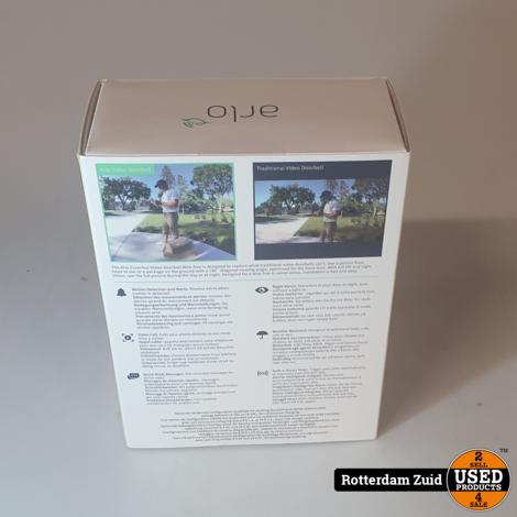 Arlo Wire Free Video Doorbell Wit II Nieuw in Doos II Met garantie II