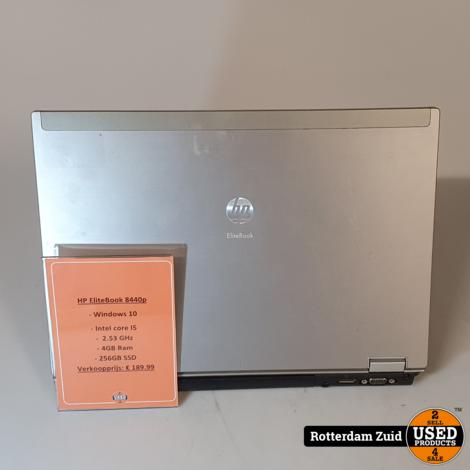 HP EliteBook 8440p laptop | i5 | 4GB | 256GB | Met garantie ||