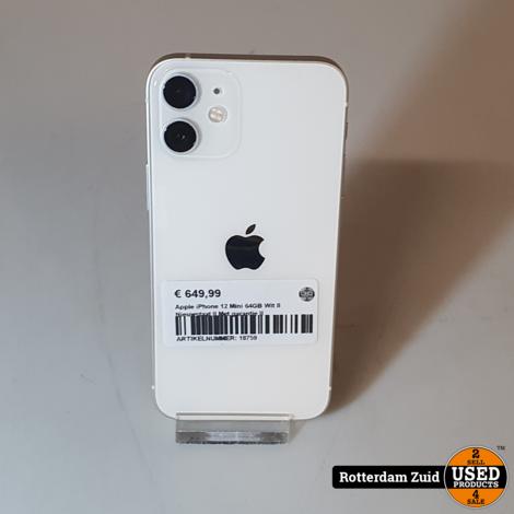 Apple iPhone 12 Mini 64GB Wit II Nieuwstaat II Met garantie II