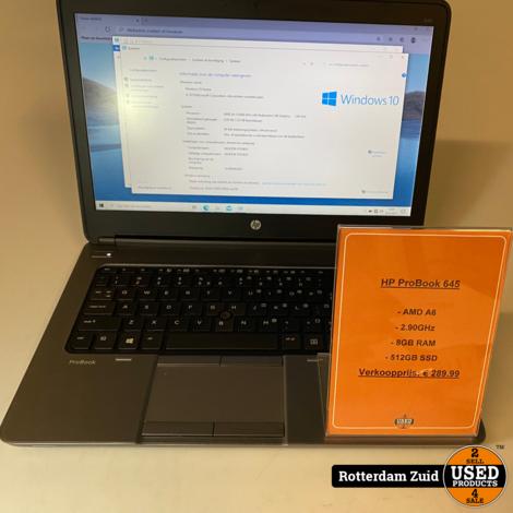 HP Probook 645 laptop | AMD A6 | 8GB | 512GB || met garantie ||