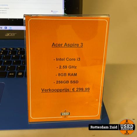 Acer Aspire A315-56-395F   i3   8GB   256GB   met garantie   