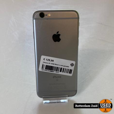 iPhone 6S 32GB Black    met garantie   
