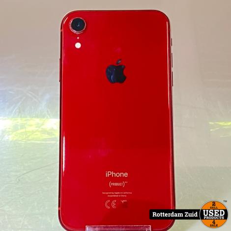 iPhone XR 64GB Rood    Gebruikte staat met garantie   