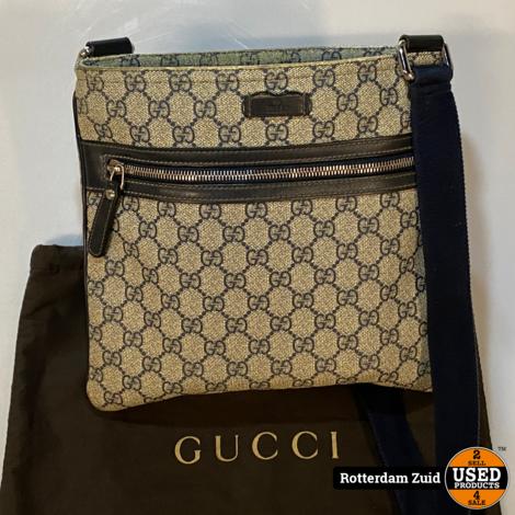 Gucci Blue GG Supreme Messenger Bag    met garantie   