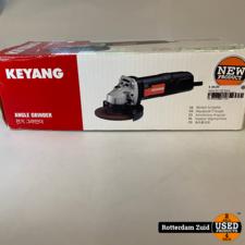 Keyang DG-1102C Haakse slijpmachine 1100 Watt 125 mm || Nieuw in doos ||