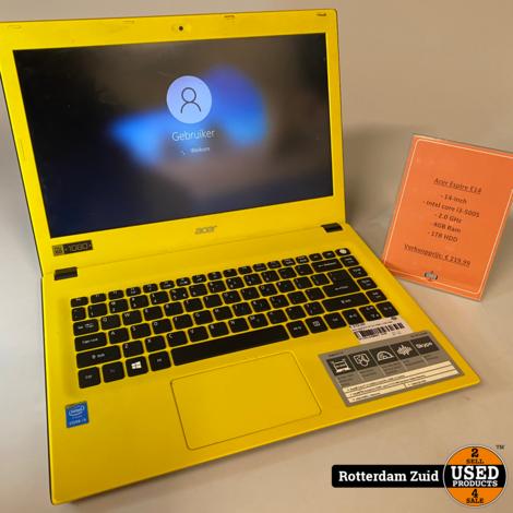 Acer Aspire E 14   i3   4GB   1TB   Met garantie   