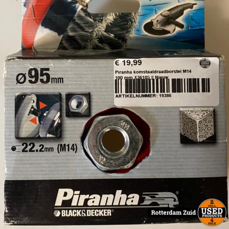Piranha komstaaldraadborstel M14 100 mm X36105 || Nieuw