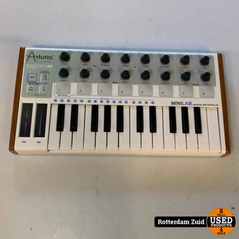Arturia MiniLab analog lab Midi Controller / keyboard   In doos   Met garantie