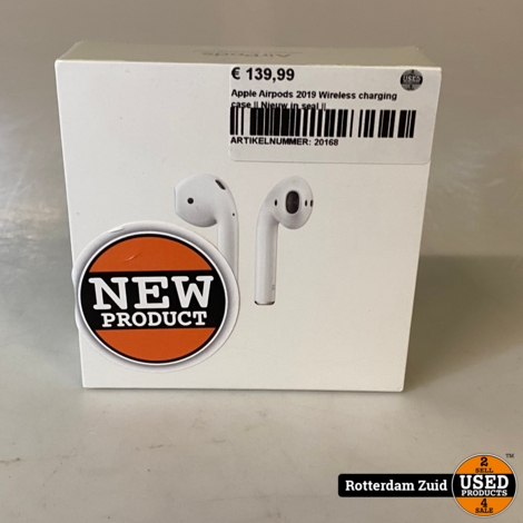Apple Airpods 2019 Wireless charging case || Nieuw in seal ||