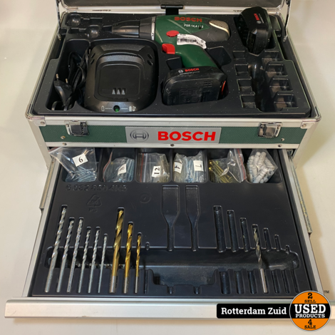 Bosch PSR 14.4 Boormachine   2 accu's met lader en koffer   Met garantie