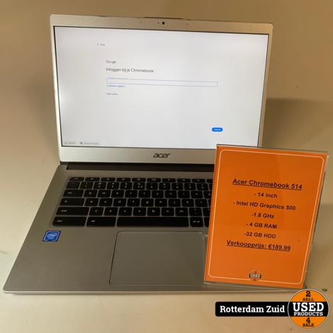 ACER Chromebook 514 (CB514-1H-C8PA) II Nette staat II Met garantie II