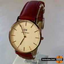 Daniel Wellington horloge rode band | Met garantie