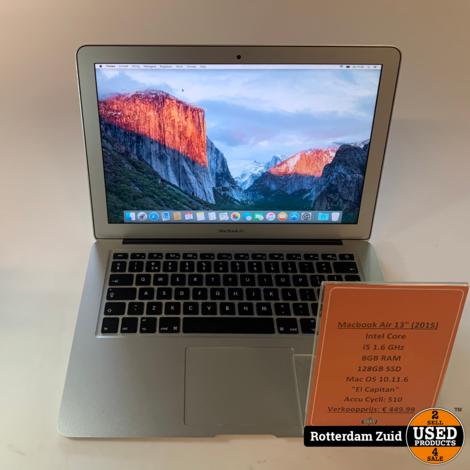 Macbook Air 2015 13 inch Intel Core i5 8GB 128GB SSD   Met garantie