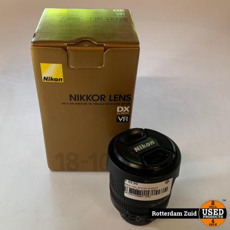 Nikon Lens  AF-S DX 18-105mm 1:3.5-5.6G ED | In doos | Met garantie