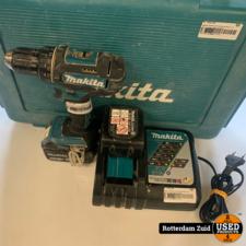 Makita DDF482 18V Boormachine   2x accu + lader   Met garantie