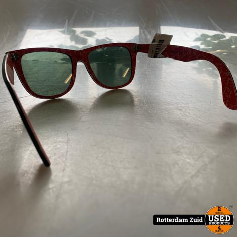 Rayban RB2140 zonnebril rood/zwart   Nette staat