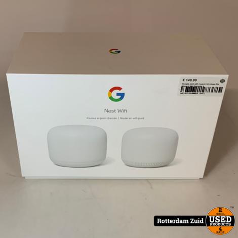 Google nest wifi 2 pack II Zo Goed Als Nieuw II Met Garantie II