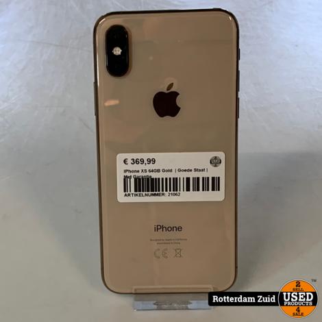 iPhone XS 64GB Goud || in nieuwstaat met garantie ||