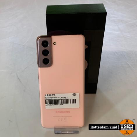 Samsung Galaxy S21 5G Pink    compleet in doos met garantie   