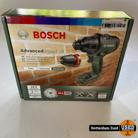 Bosch Advanced Impact 18 Accu boormachine    Zonder accu + lader    nieuw in doos   