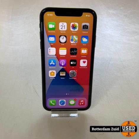 iPhone 11 128GB Black    in nette staat met garantie   