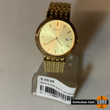 Seike horloge goud    met garantie   