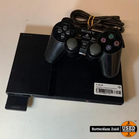 Playstation 2 Slim Black Compleet || in Nette Staat || Met garantie