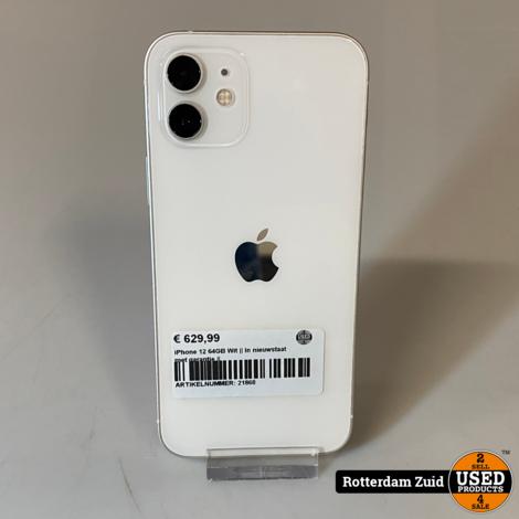 iPhone 12 64GB Wit    In nieuwstaat met garantie   