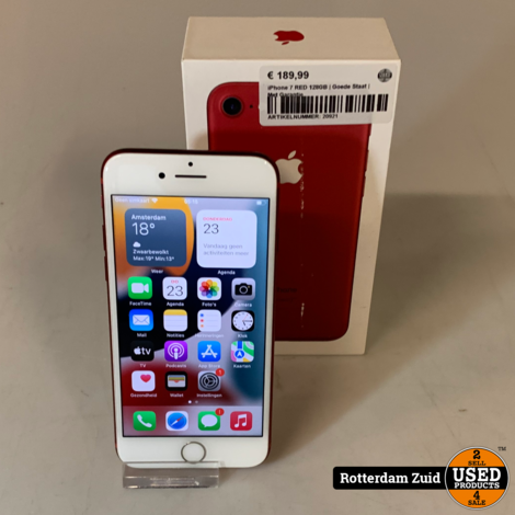 iPhone 7 128GB Rood    in nette staat met garantie   