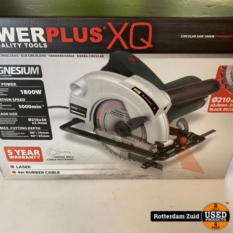 Powerplus POWXQ5315 Cirkelzaag  1800 W - Ø210 mm || Nieuw In Doos || Met Garantie