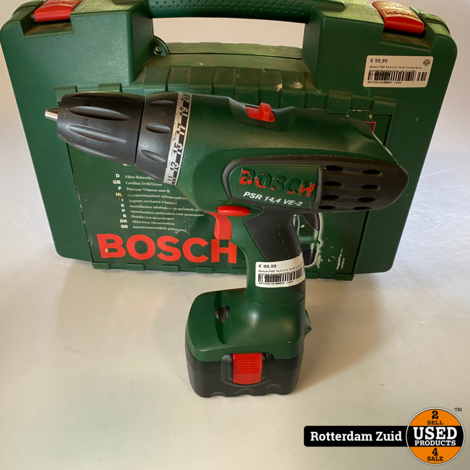 Bosch PSR 14,4 LI-2 14,4V Li-Ion accu schroef-/boormachine set in koffer (2x 2,5Ah accu)