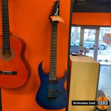 Ibanez RG7421PB Sapphire Blue Flat 7-snarige elektrische gitaar    Nette Staat    Met Garantie